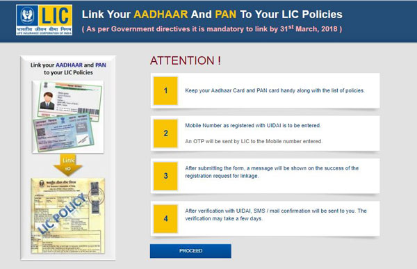 How to Check Status of Aadhaar Card with LIC Insurance Linking