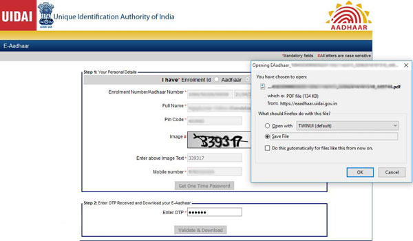 How to Download Aadhar Card by Name & Date of Birth
