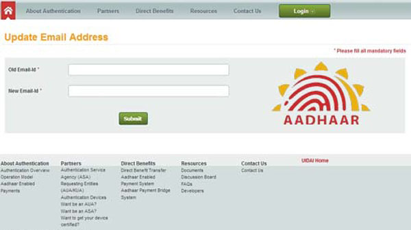 How to Update Or Correct Email ID in Aadhar Card Online?