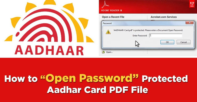 What is the Password to Open an e-Aadhaar card PDF File?