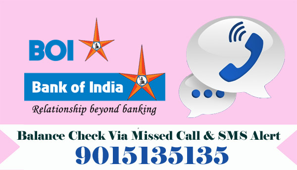 Bank of India (BOI) Balance Enquiry Via Missed Call & SMS Alert