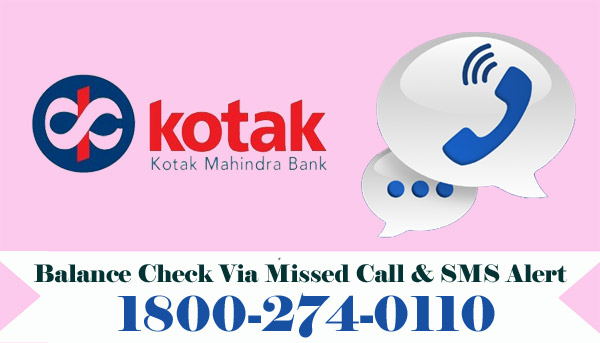 Kotak Mahindra Bank Balance Enquiry