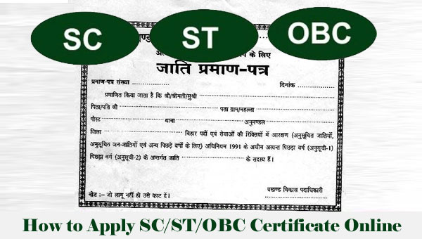 How to Apply SC/ST/OBC Certificate Online