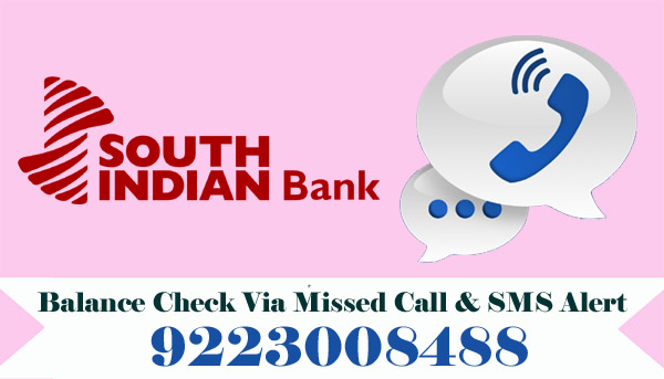South Indian Bank Balance Enquiry