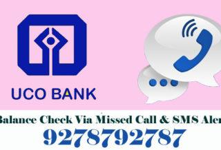 UCO Bank Balance Enquiry