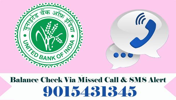 United Bank of India Balance Enquiry
