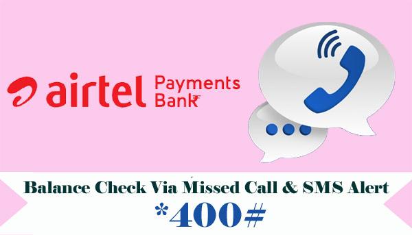 Airtel Payments Bank Balance Check
