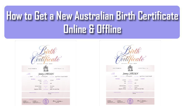 How to Get a New Australian Birth Certificate Online