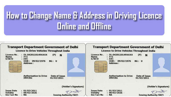 How to Change Name & Address in Driving Licence