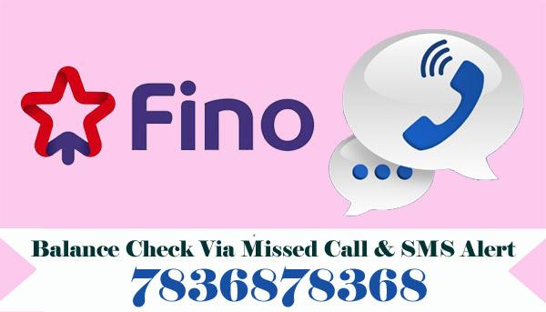 Fino Payments Bank Balance Check