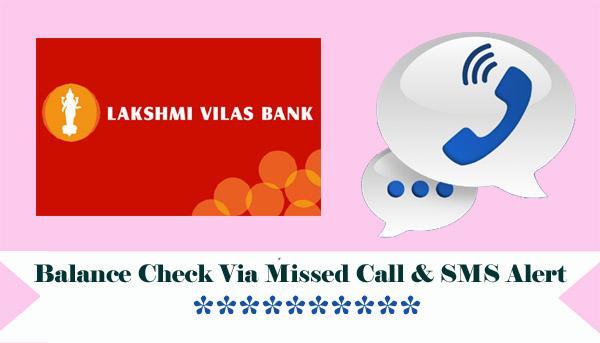 Lakshmi Vilas Bank Balance Enquiry