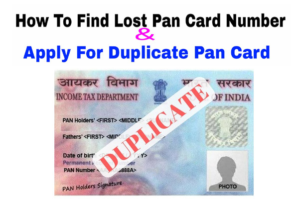 Lost Pan Card Apply