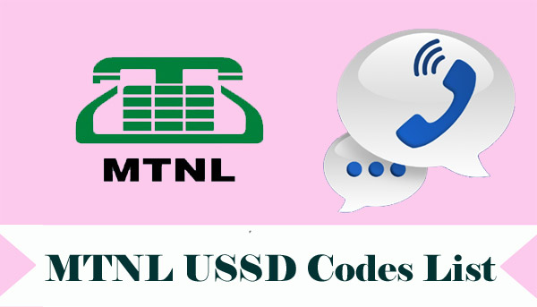 MTNL USSD Codes List