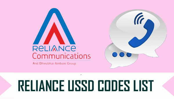 Reliance USSD Codes List