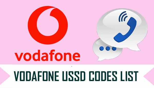 Vodafone USSD Codes List