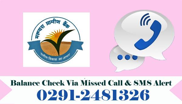 Marudhara Rajasthan Gramin Bank Balance Check