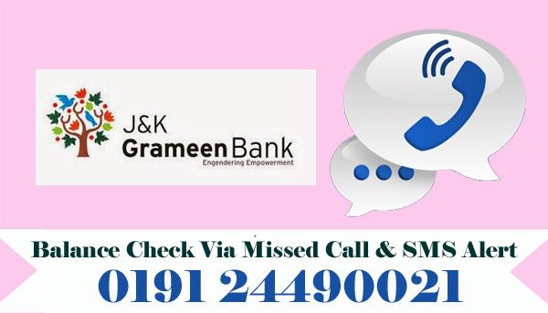Jammu & Kashmir Grameen Bank Balance Check
