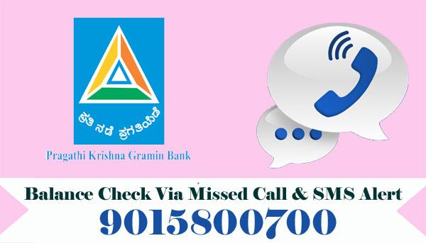 Pragathi Krishna Gramin Bank Balance Check