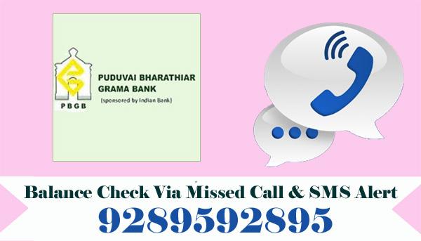 Puduvai Bharathiar Grama Bank Balance Check