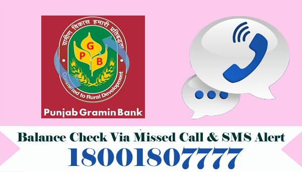 Punjab Gramin Bank Balance Check