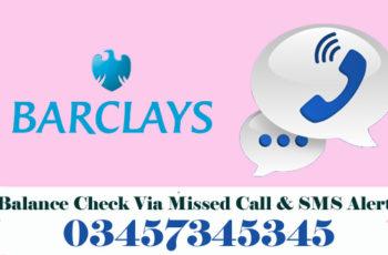 Barclays Bank Balance Check