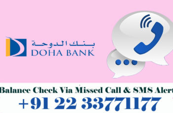 Doha Bank Balance Enquiry Check Via Missed Call & SMS Alert