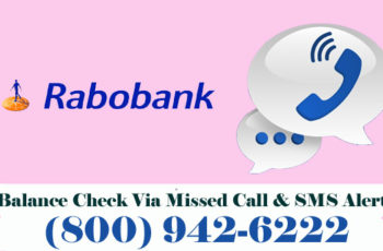 Rabobank Bank Balance Enquiry Check Via Missed Call & SMS Alert