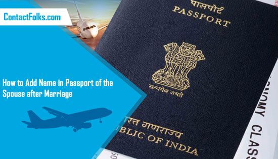 How to Add Name in Passport of the Spouse after Marriage