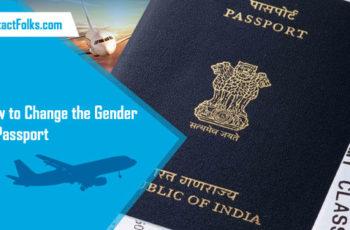 How to Change the Gender in Passport