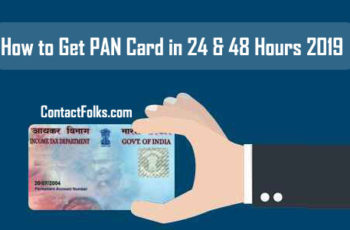 How to Get PAN Card in 24 & 48 Hours 2019
