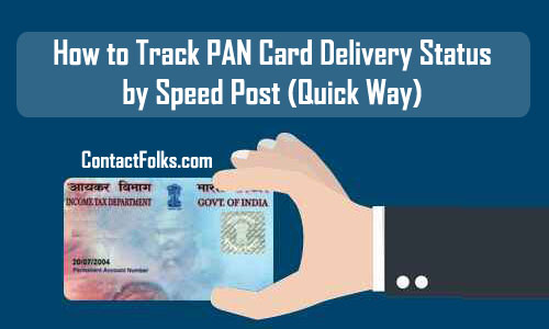 How to Track PAN Card Delivery Status by Speed Post (Quick Way)