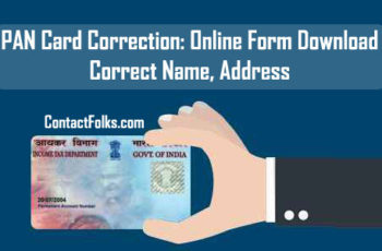 PAN Card Correction: Online Form Download 2019 - Correct Name, Address