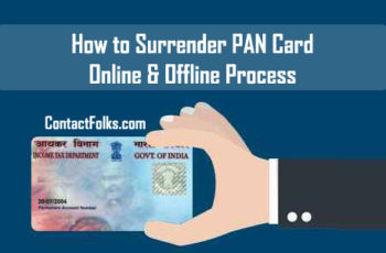 How to Surrender PAN Card - Online & Offline Process