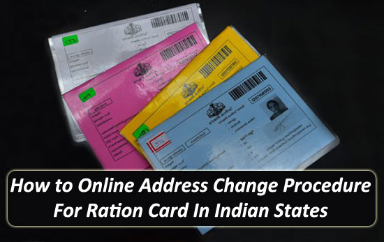 How to Online Address Change Procedure For Ration Card In Indian States