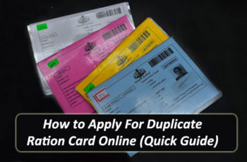 How to Apply For Duplicate Ration Card Online (Quick Guide)