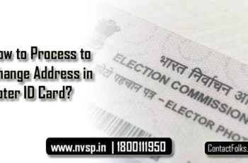How to Process to Change Address in Voter ID Card?