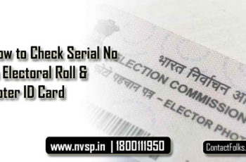How to Check Serial Number in Electoral Roll & Voter ID Card