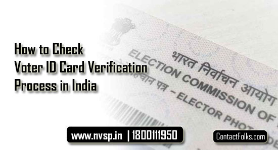 How to Check Voter ID Card Verification Process in India