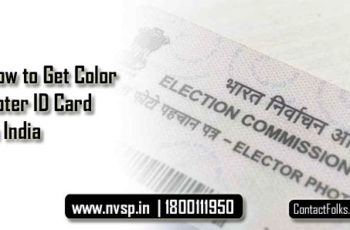 How to Get Color Voter ID Card in India 2019-20