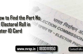 How to Find the Part Number of Electoral Roll in Voter ID Card