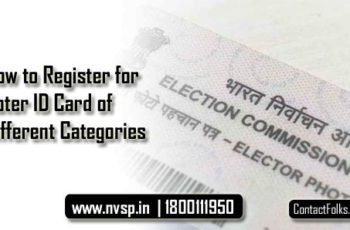 How to Register for Voter ID Card of Different Categories