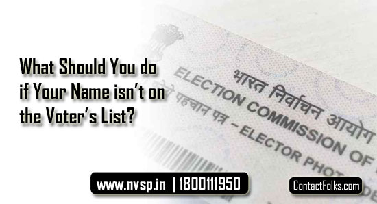 What Should You do if Your Name isn't on the Voter's List?