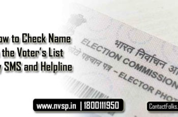 How to Check Name in the Voter's List by SMS and Helpline