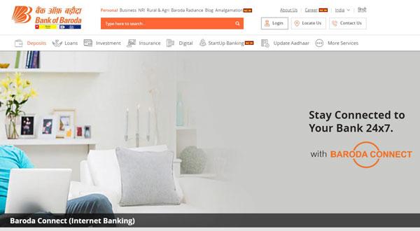 bank of baroda user id forgot